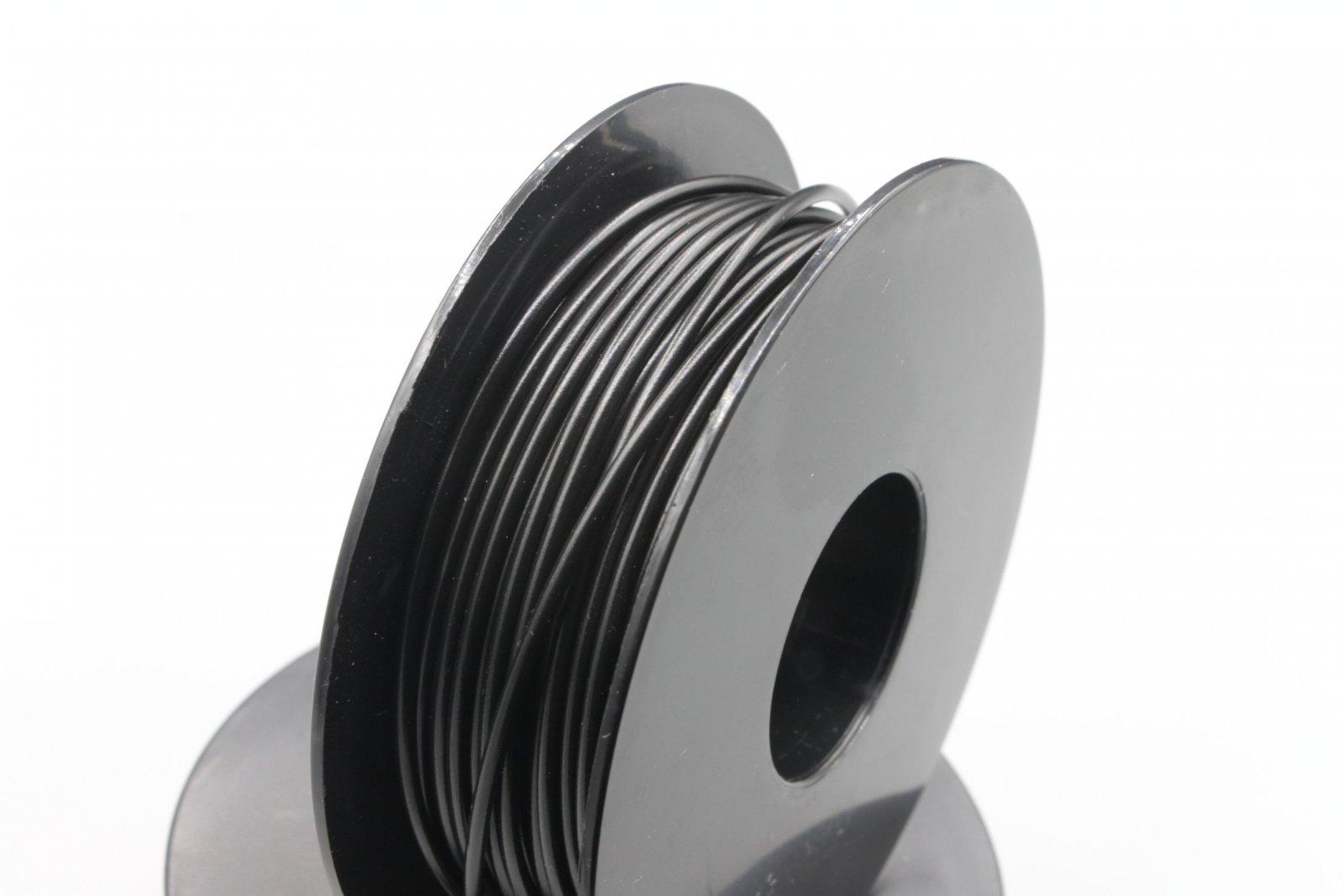 25 m LIYv Kabel Litze schwarz 0,5 mm² flexibel Kupferlitze Schaltlitze