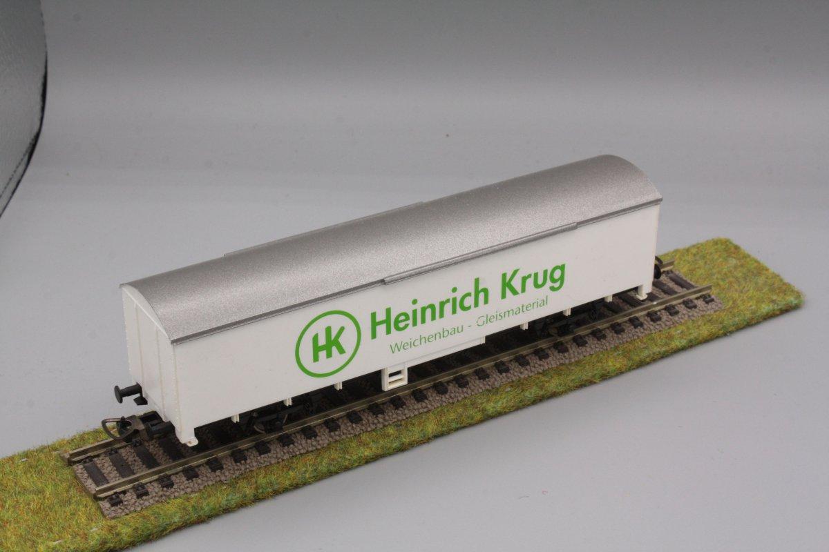 Piko Gbs - 2-achsiger gedeckter Güterwagen - weiß - Heinrich Krug - Gleisbau