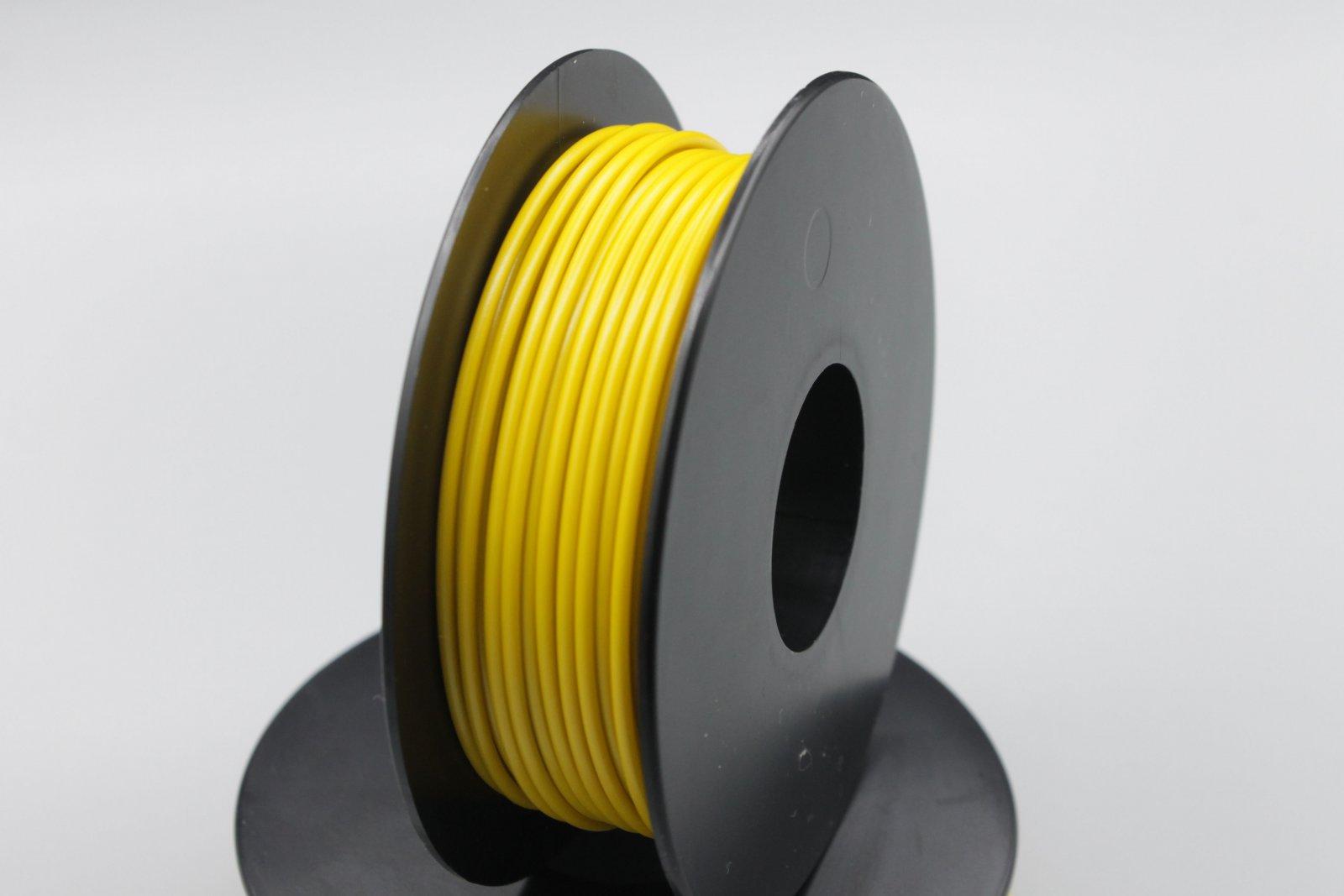 25 m LIYv Kabel Litze gelb 0,5 mm² flexibel Kupferlitze Schaltlitze