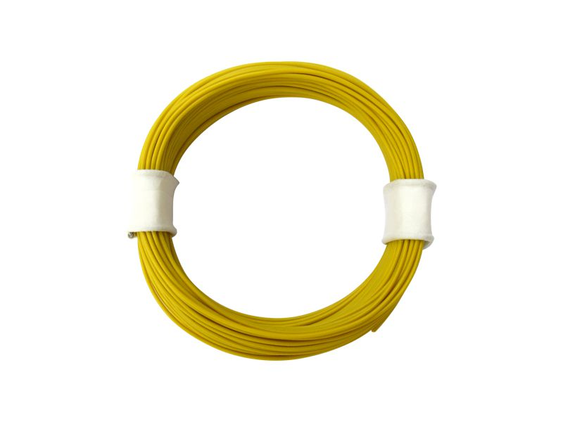10 m Ring Miniaturkabel Litze flexibel LIVY gelb 0,04 mm² Kupferlitze Kabel