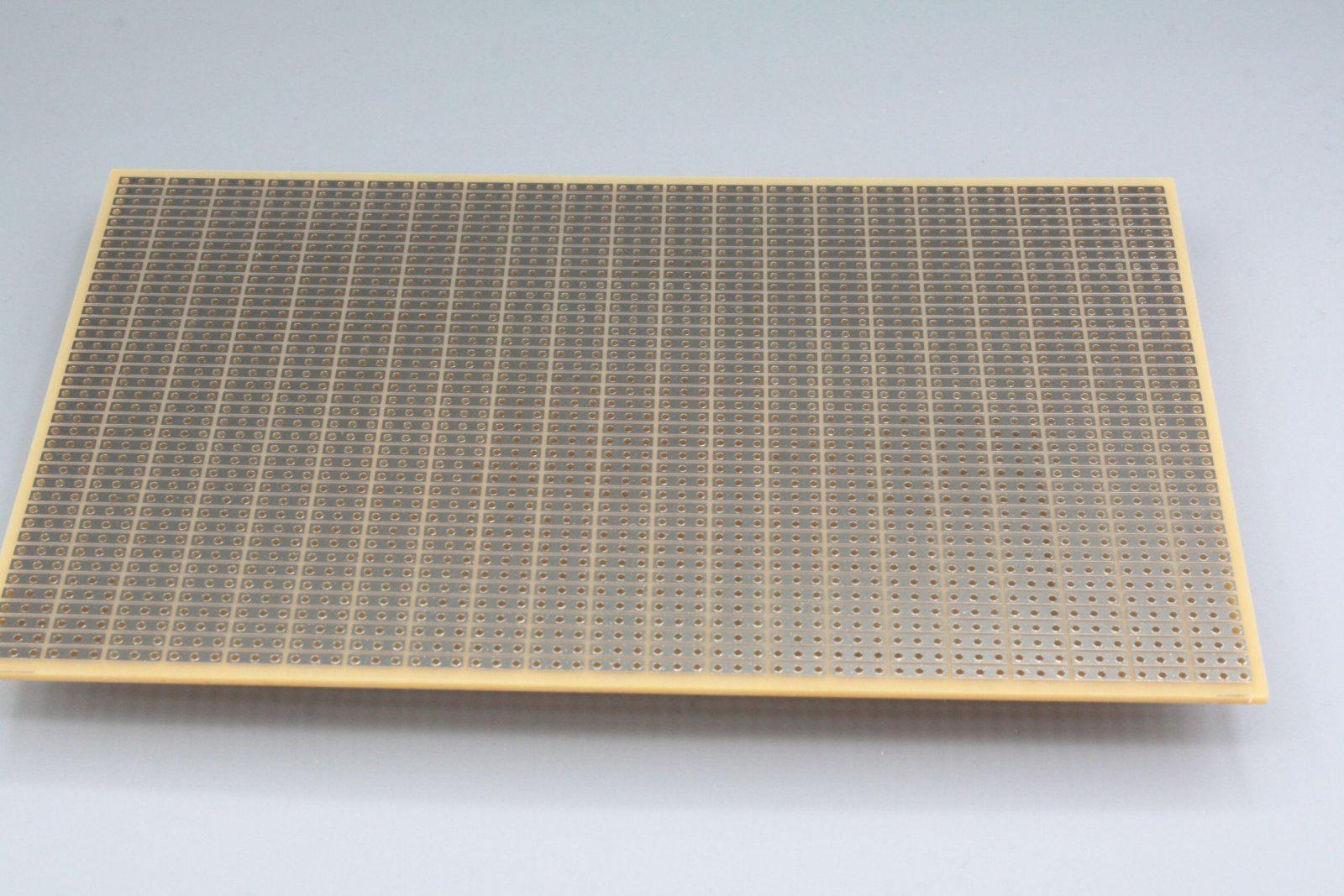 Experimentierplatine 160x100 mm -  3er Streifenraster Platine flash-vergoldet