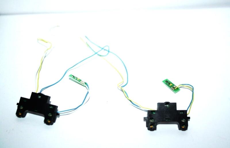 Ersatzteil Piko H0 119 / 219 Beleuchtungsplatine mit Abdeckung 1Paar/ 2 Stück