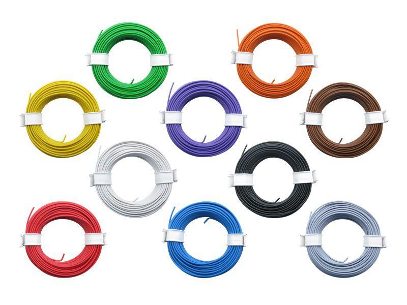 (0,13 €/m) 10 x 10 m Litze 0,14 mm² Kupferlitze Schaltlitze Kabel