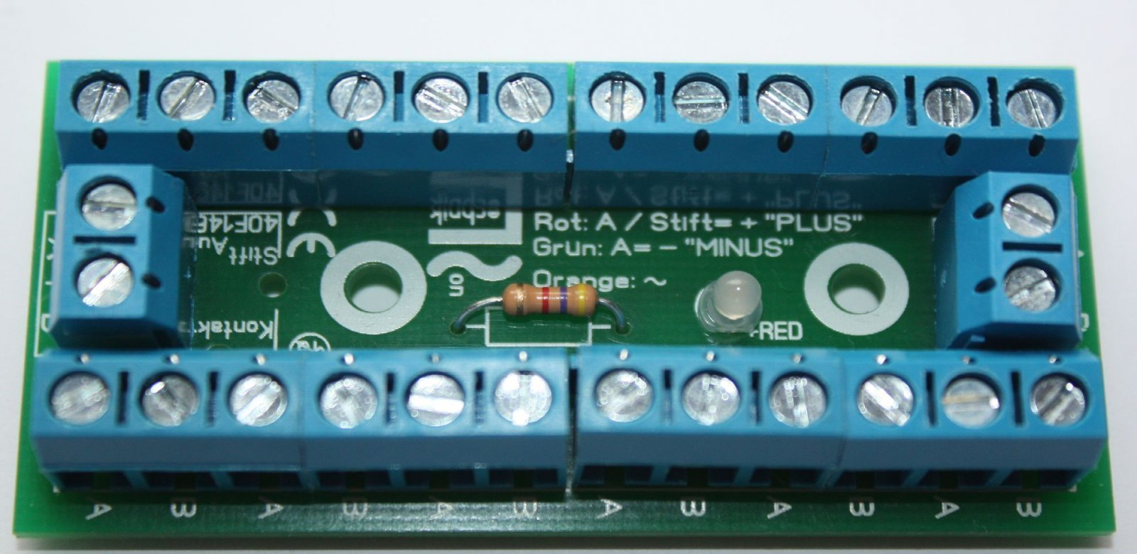 10x Bausatz Stromverteiler Modellbahn mit Status LED - 30V - 10 Stück - fertig