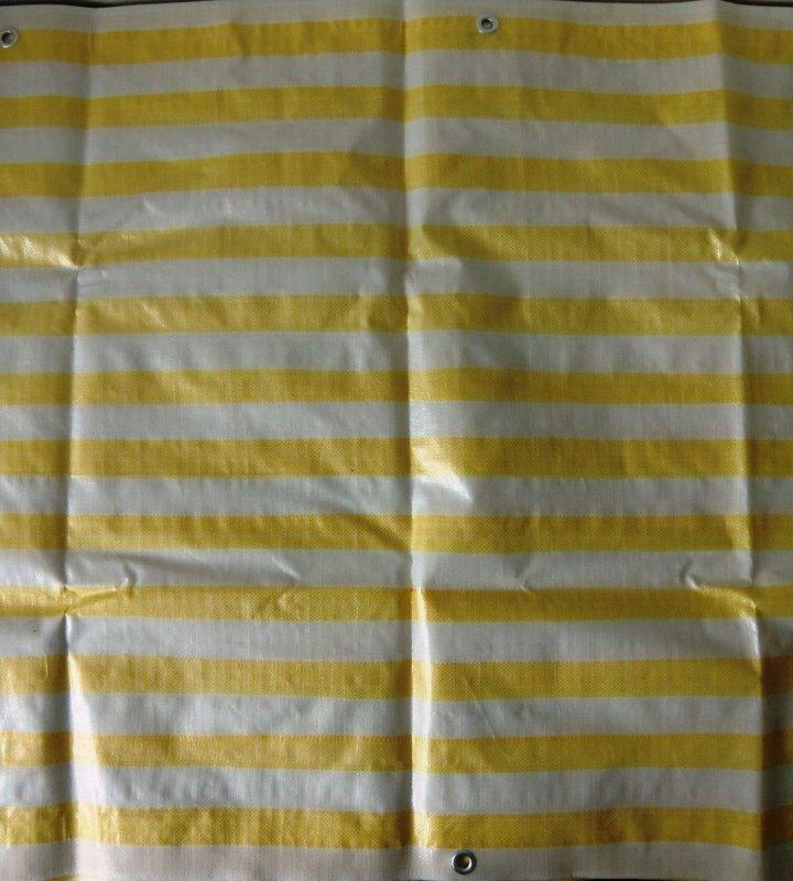 Windschutz Sichtschutz 0,9 m x 5 m gelb Balkonblende weiß Verkleidung