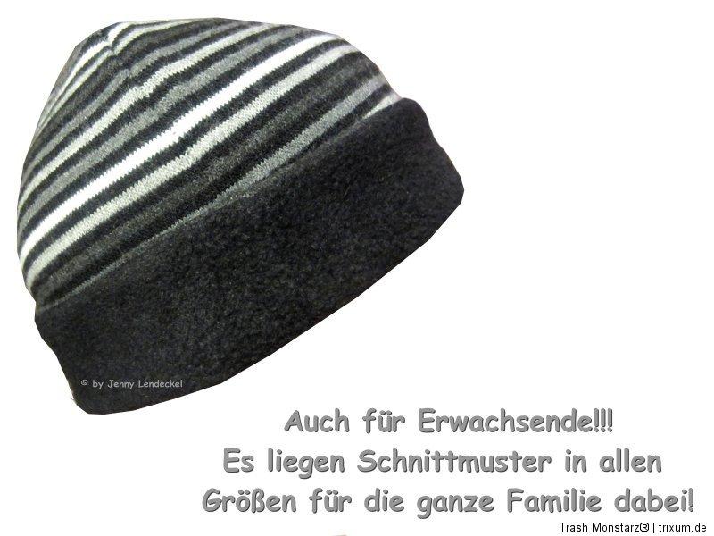 Winter Wende-Beanie, Schnittmuster Mütze nähen, Nähanleitung und ...
