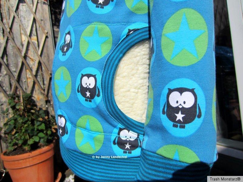 Kuschel-Hoodie/Kapuzenpulli für Kinder nähen, Schnittmuster und ...