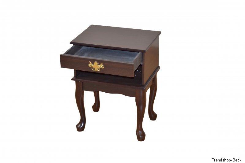 Telefontisch mit Schubkasten Beistelltisch Nachttisch Telefonkommode Holz//MDF