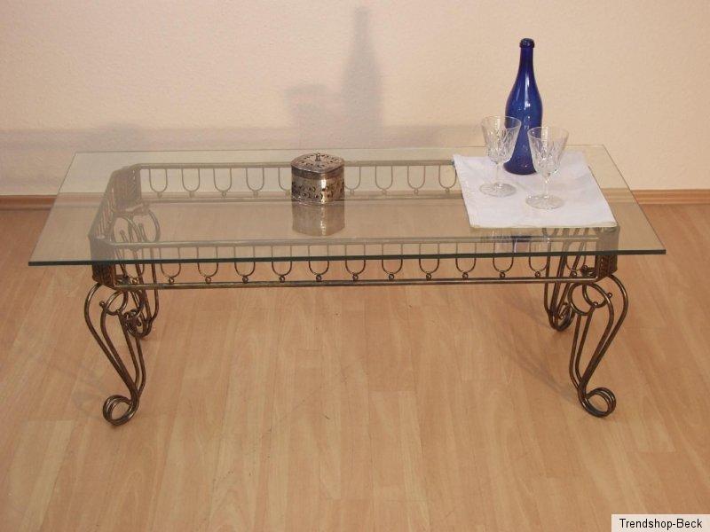 Antik-Gold Couchtisch Tisch Beistelltisch Metalltisch Glastisch Farbe