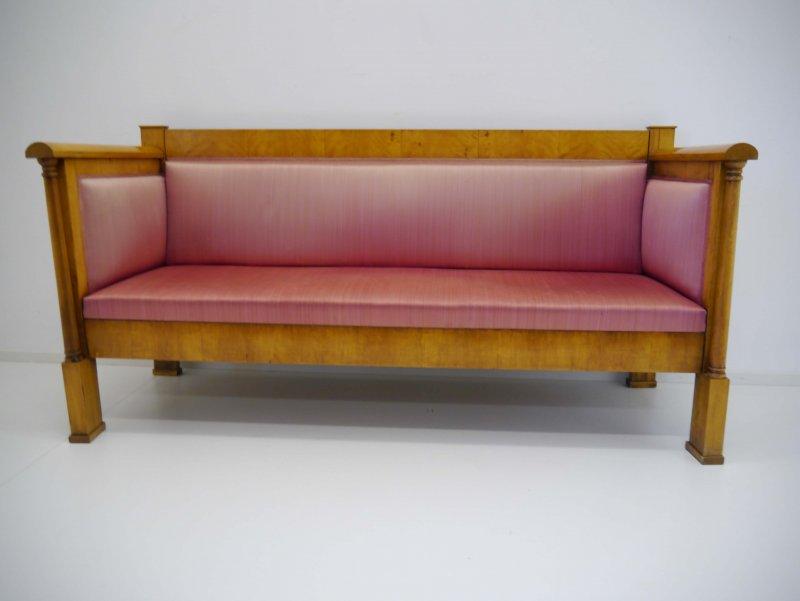 biedermeier sofa birke freistehende volls ulen um 1820 ebay. Black Bedroom Furniture Sets. Home Design Ideas
