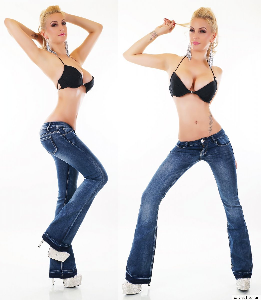 JEANS Donna Pantaloni Bootcut colpo flarecut colpo Colpo Jeans Pantaloni Stretch 34-42