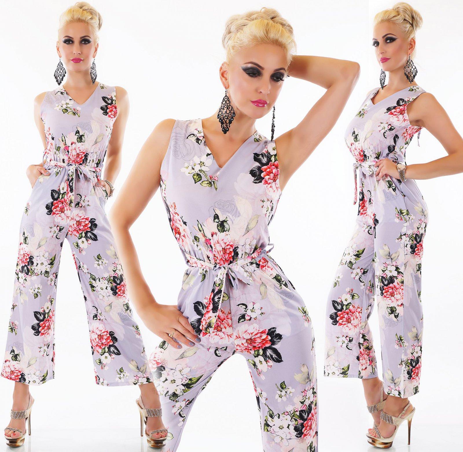By Alina Damenoverall Jumpsuit Overall  Shorts+Gürtel Hosenrock Spitze pink XS-M