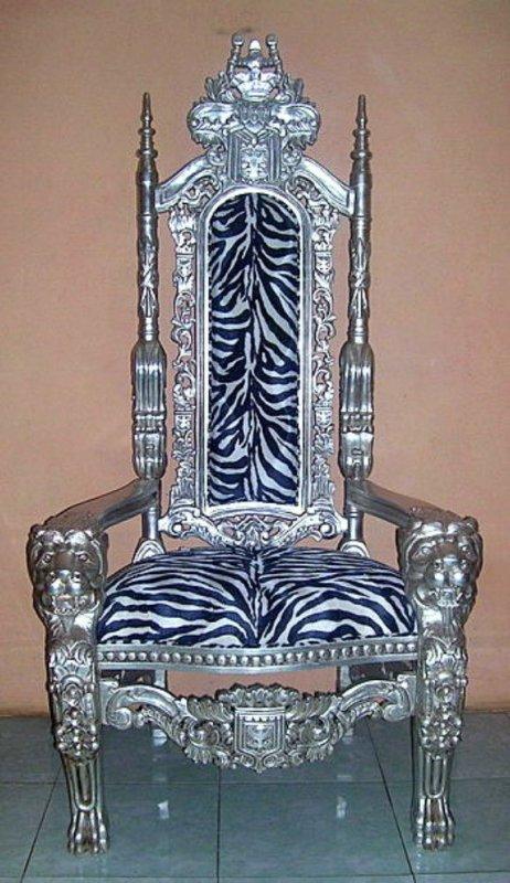 dekorativer thron thronstuhl sessel mahagoni 4260332433167 ebay. Black Bedroom Furniture Sets. Home Design Ideas