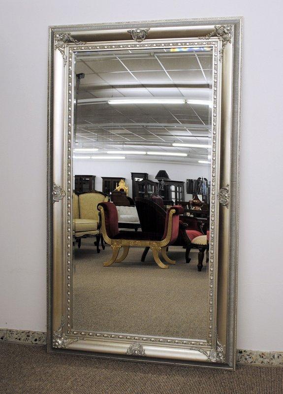 grosser spiegel farbe silber mit facettenschliff 103 x 178 cm ebay. Black Bedroom Furniture Sets. Home Design Ideas