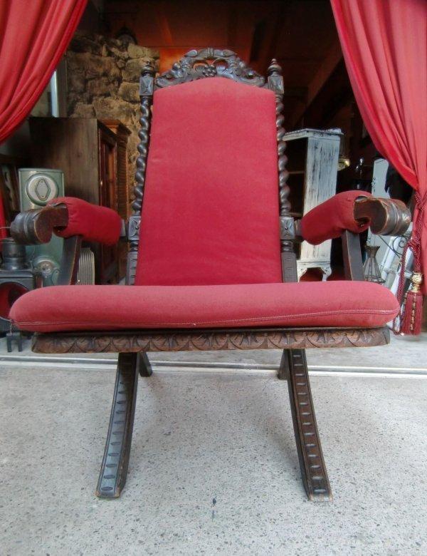 antik gartenstuhl sessel klappstuhl gr nderzeit thronstuhl ebay. Black Bedroom Furniture Sets. Home Design Ideas