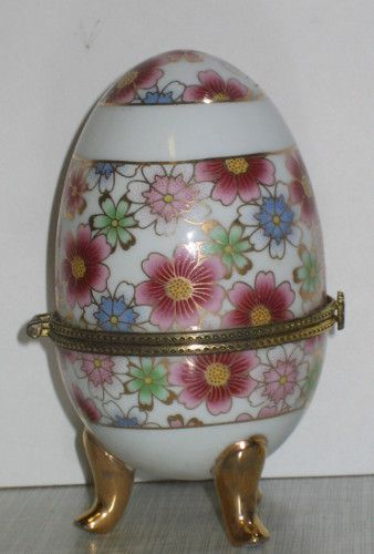 3 Deckeldose Schmuckdose Porzellanei Dose Zierdose lila Blume-Rosendekor 10x6cm