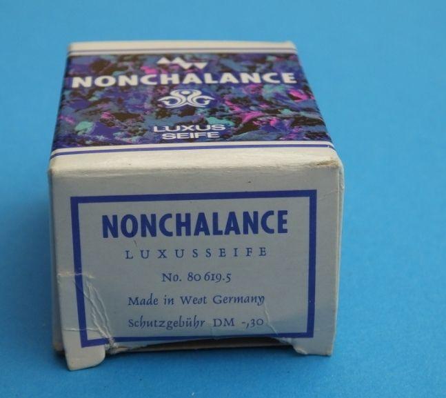 alte nonchalance luxus seife 22 g west germany 0,30 dm mit