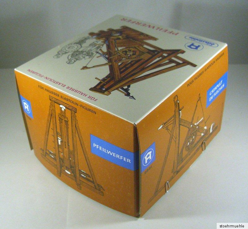 Hausser Elastolin Original Leerkarton 9885 4 cm Normannen Belagerungsturm OVP