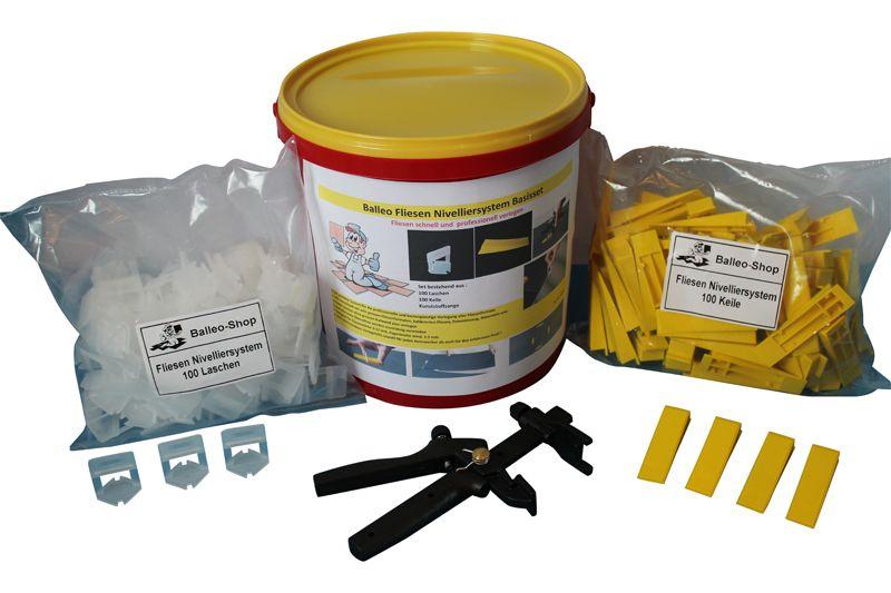 Balleo Fliesen Nivelliersystem Verlegesystem 1000 Laschen kompatibel