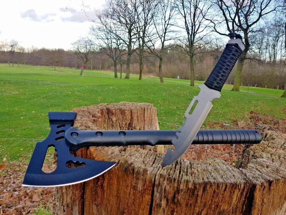 Tomahawk Machete Axt Beil  Rettungsaxt Tactical  Spitzhacke Ascia Hache Jagd