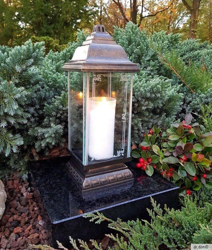 Sépulture sépulture Lampe Lampe Pour Tombe sépulture Lanterne Rose Pierre Tombale