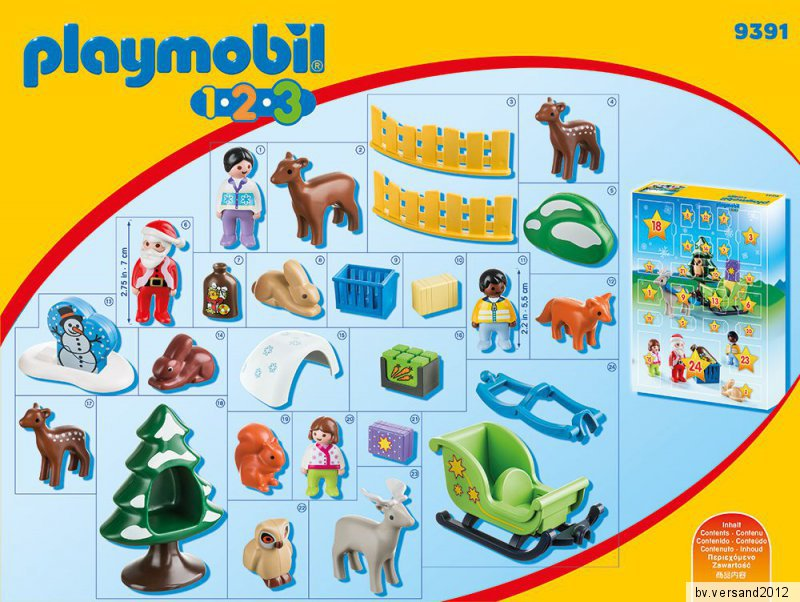 playmobil 9391 adventskalender waldweihnacht der tiere. Black Bedroom Furniture Sets. Home Design Ideas