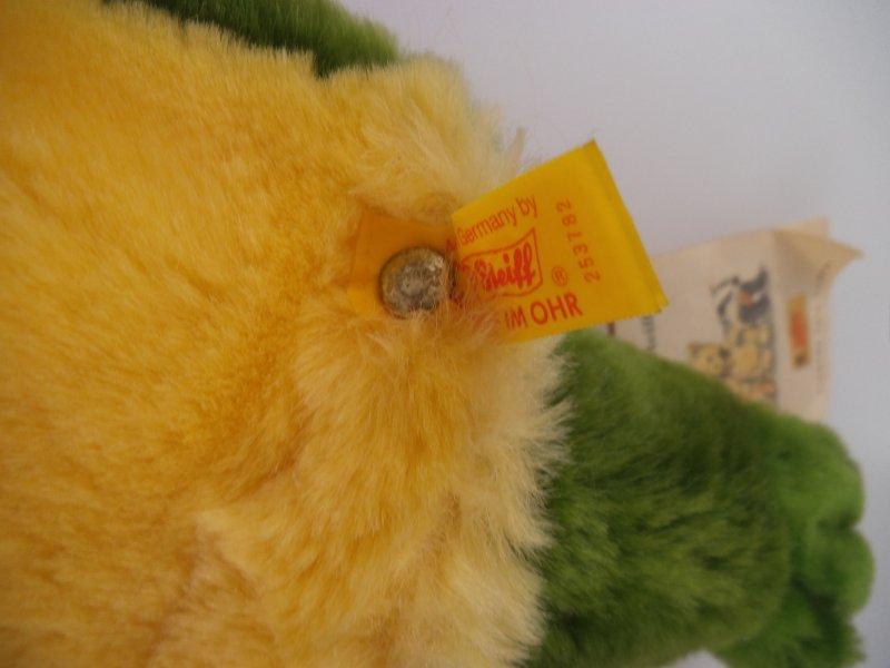 852 Steiff Handpuppe Happy Frosch 253782 1997-1999 komplett mit KFS Steiff