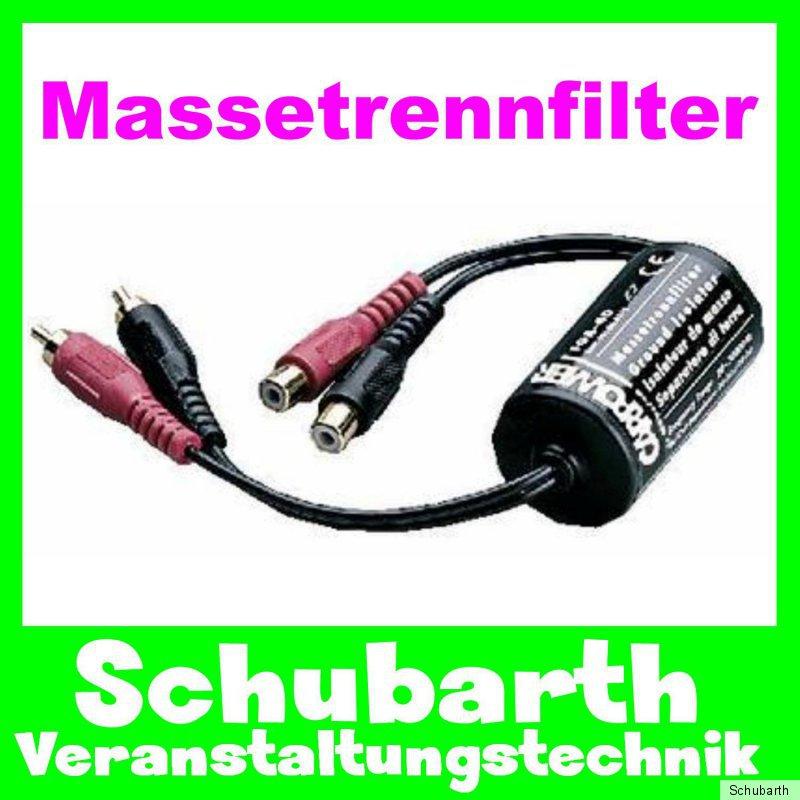 Massetrennfilter FGA-40 Störfilter Massefilter Brummschleife Cinch Laptop DJ