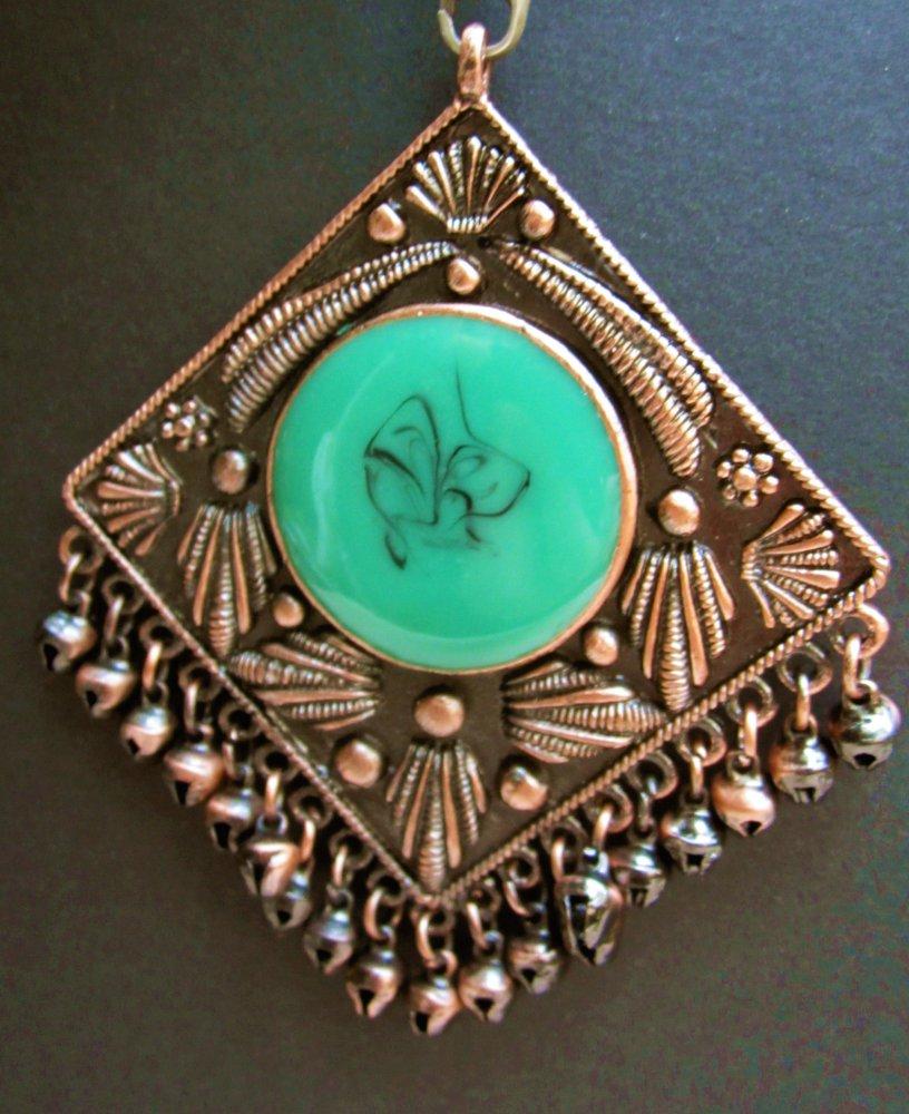 Schöner Silber Anhänger Mittelalter Patina Orientalisch Ethno Hippe Goa Psy Edel