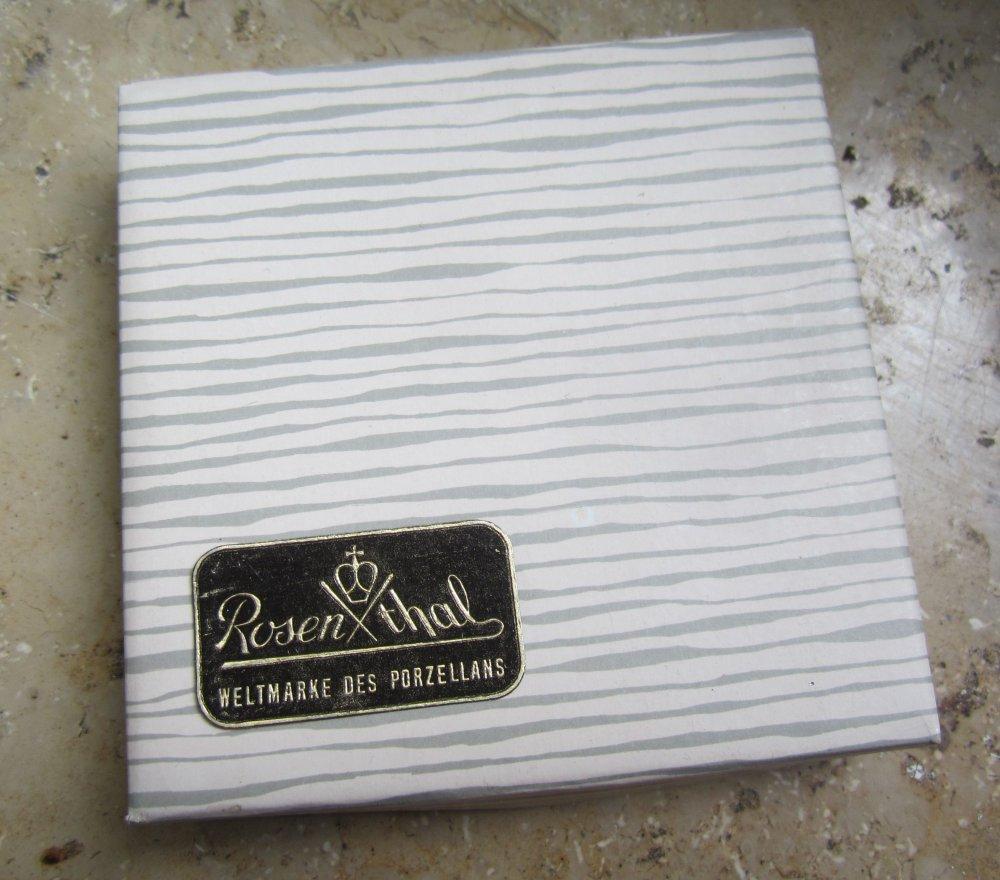 ✿sammel pralinen teller schale schattenrose rosenthal vintage in ovp 8,5 cm neuw