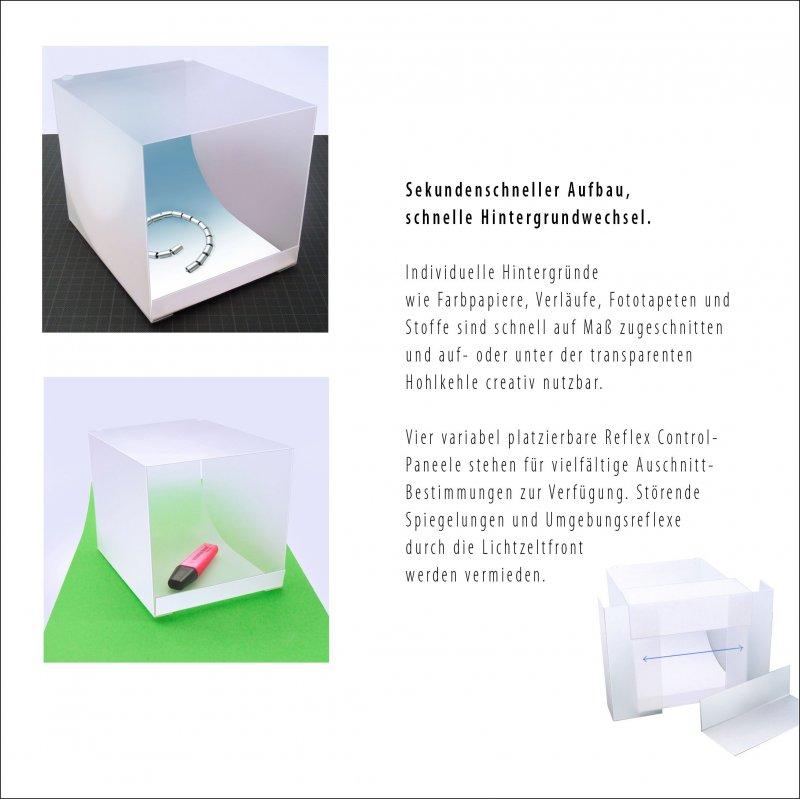bigcube Lichtzelt MacroBox Fotobox Lichtwanne MIT ZUBEHÖR für kleine ...