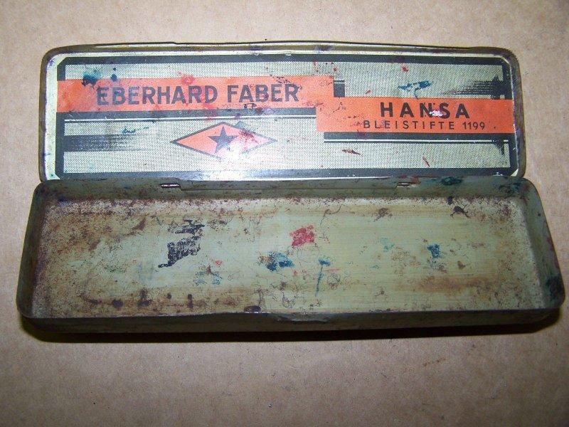 Ancienne boite de conserve bo te eberhard faber hansa crayons 1199 ebay - Acheter boite de conserve vide ...