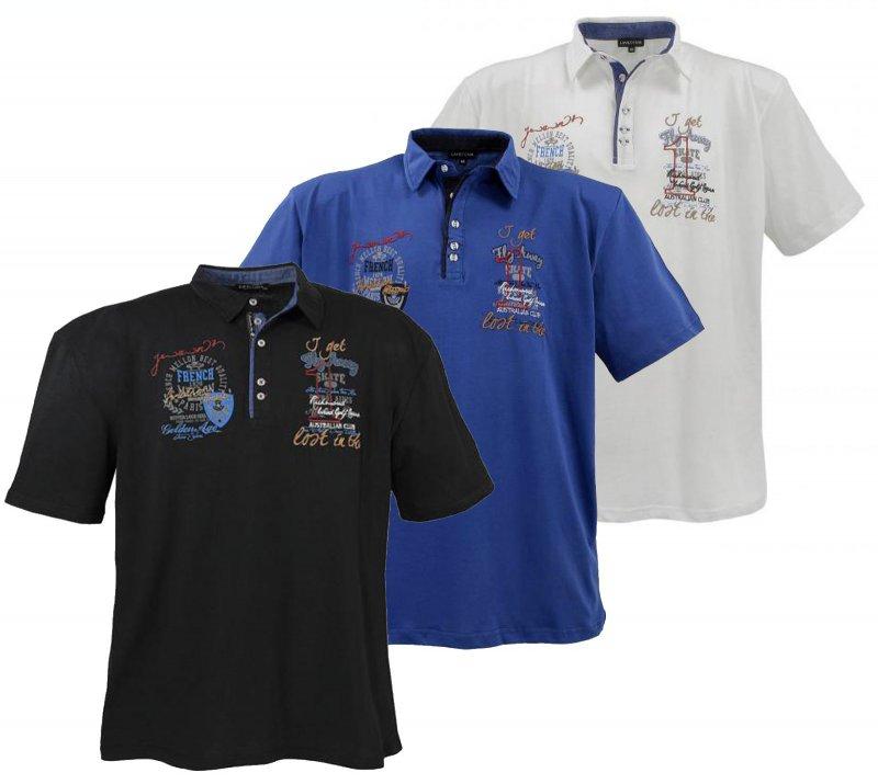 Lavecchia Polo T-Shirt Hemd Übergrößen Herren Creme Weiß 3XL 4XL 5XL 6XL 7XL 8XL