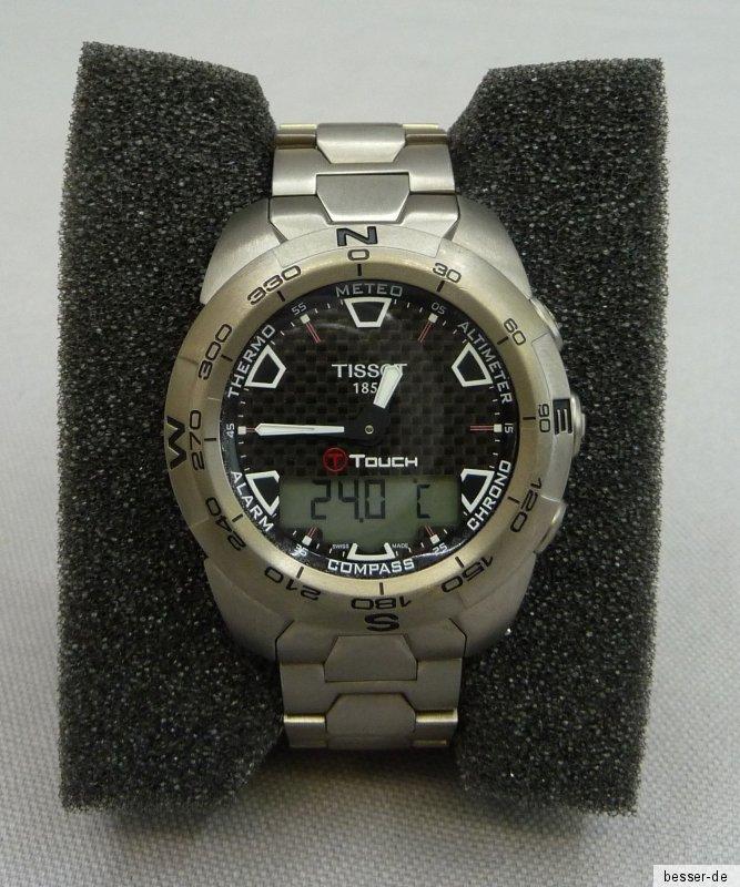 Tissot T-Touch Expert Titanium Chronograph T013420 A analog/digital ...