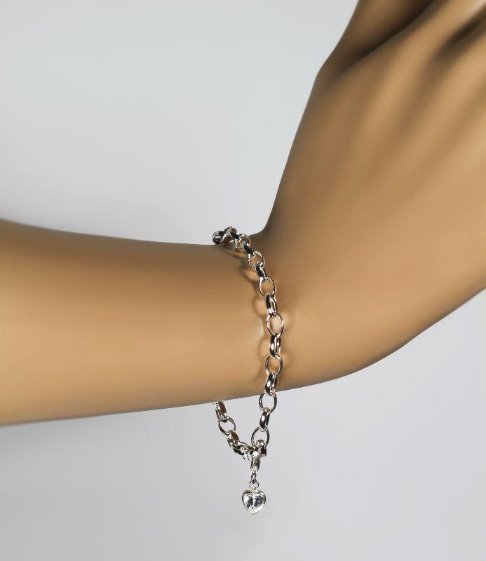 VASCAYA Charm Anhänger Bettelarmband Zirkonia weiß 6 mm Silber 925 Geschenk