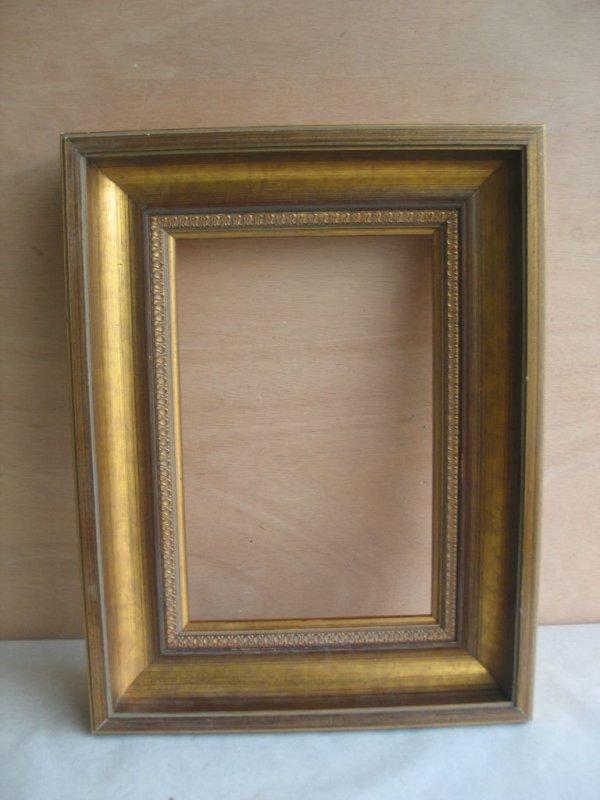 Paar Bilderrahmen Prunk Rahmen Holz goldfarben 43 x 32,5 Falz 30,8 x ...