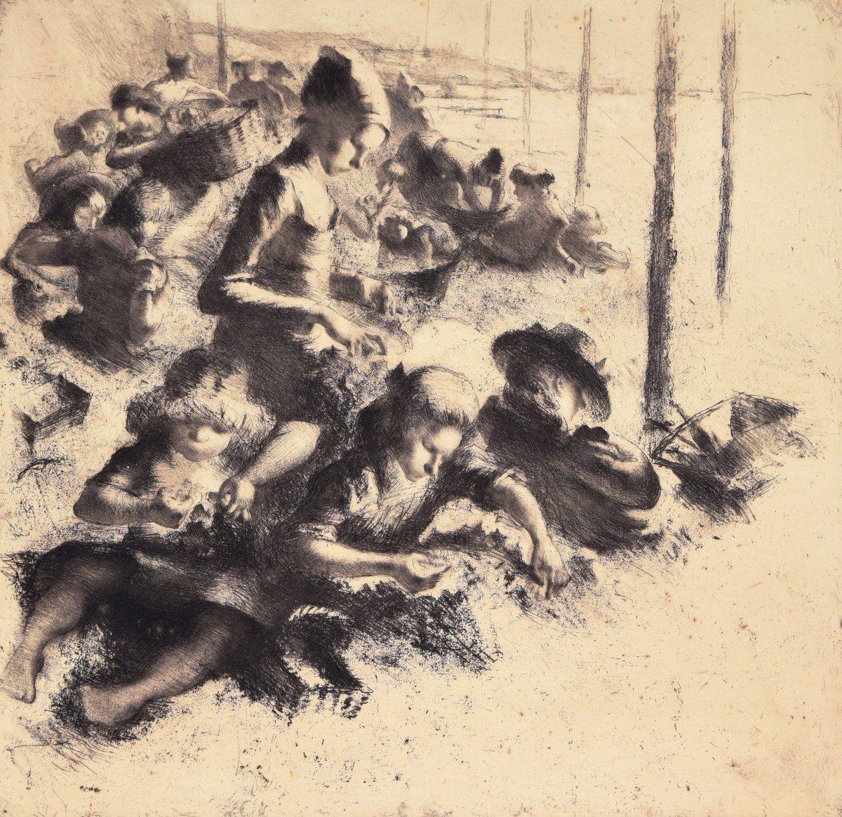 Künstler Reutlingen walter ast 1884 1976 zugeschr ellwangen reutlingen radierung