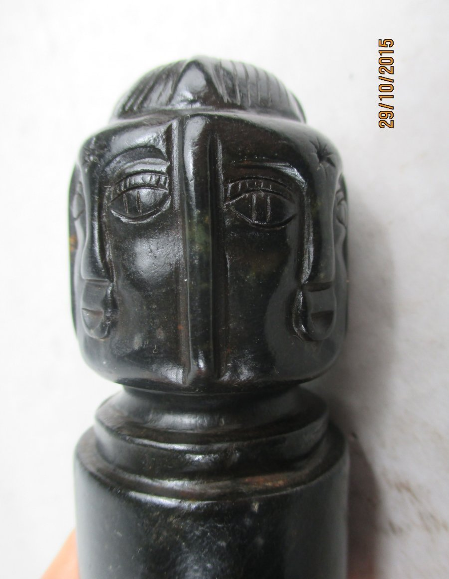 altes stein siegel marmor jade d mon buddha kopf stempel old seal china vor 1970 ebay. Black Bedroom Furniture Sets. Home Design Ideas