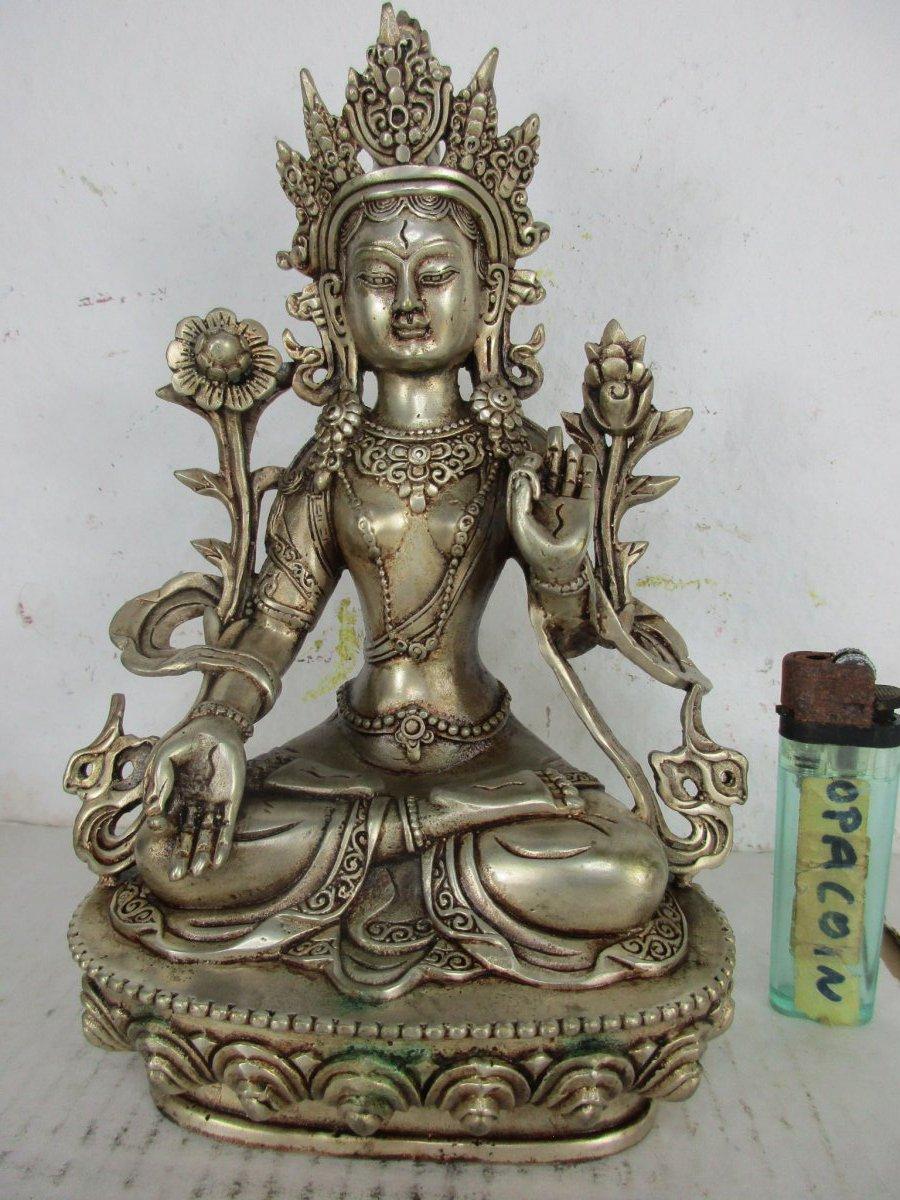 Bronze XL 13 cm Grüne Tara Messing