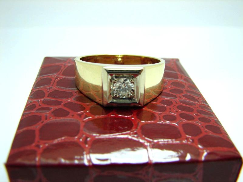 herren brillantring 585 gold herren goldring 14 karat 11 4. Black Bedroom Furniture Sets. Home Design Ideas