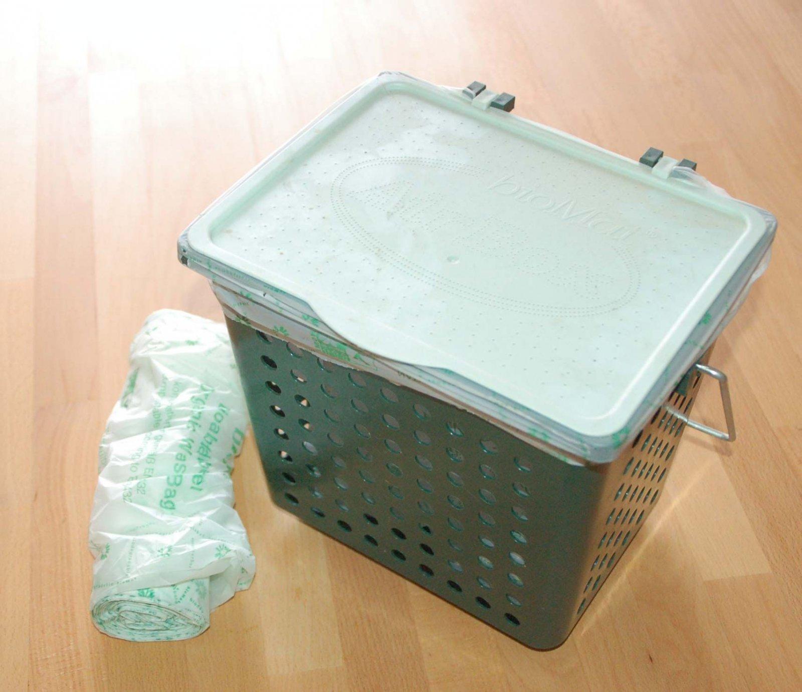 biomat airbox komposter f r die k che abfallbeutel ebay. Black Bedroom Furniture Sets. Home Design Ideas