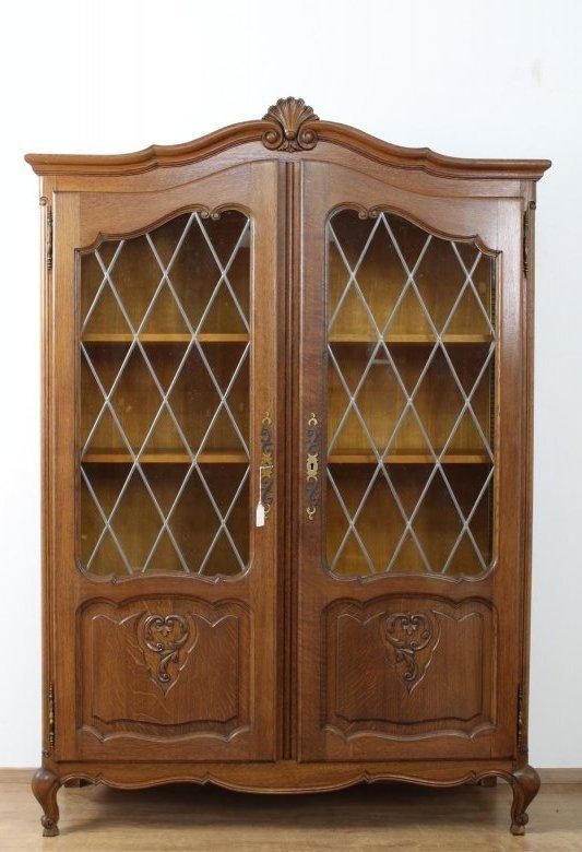 sch097 b cherschrank vitrine herrenzimmer b ro l ttisch um 1940 50 belgien ebay. Black Bedroom Furniture Sets. Home Design Ideas