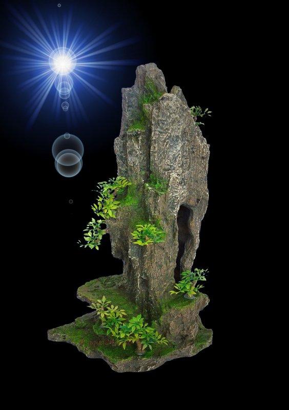 aquarium deko gro e hohe grotten h hle versteck zubeh r terrarium ebay. Black Bedroom Furniture Sets. Home Design Ideas