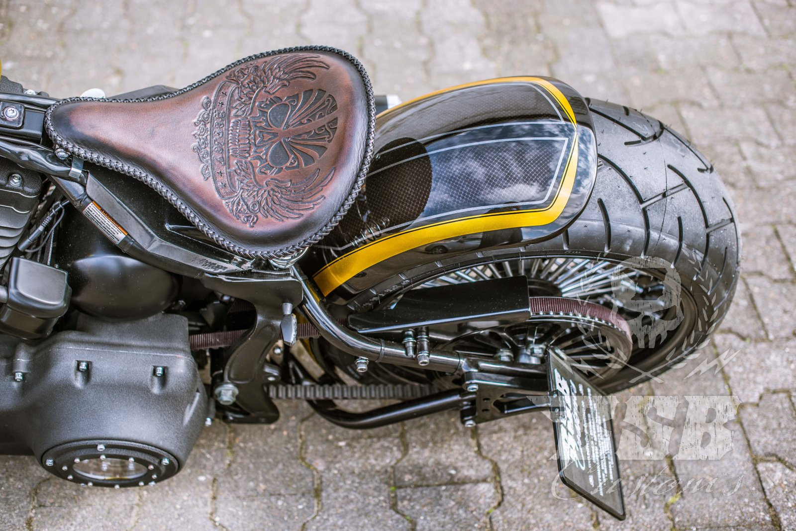 ADN Fat spoke pulley poulie à courroie 70 z.1 1//8 Harley Davidson Heritage softail
