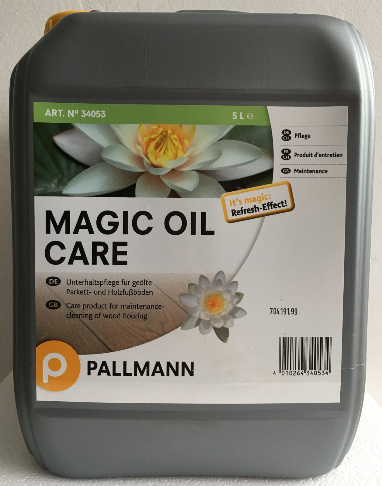 pallmann magic oil care pflegemittel 5 l parkett holzfu bodenpflegemittel 4010264340534 ebay. Black Bedroom Furniture Sets. Home Design Ideas