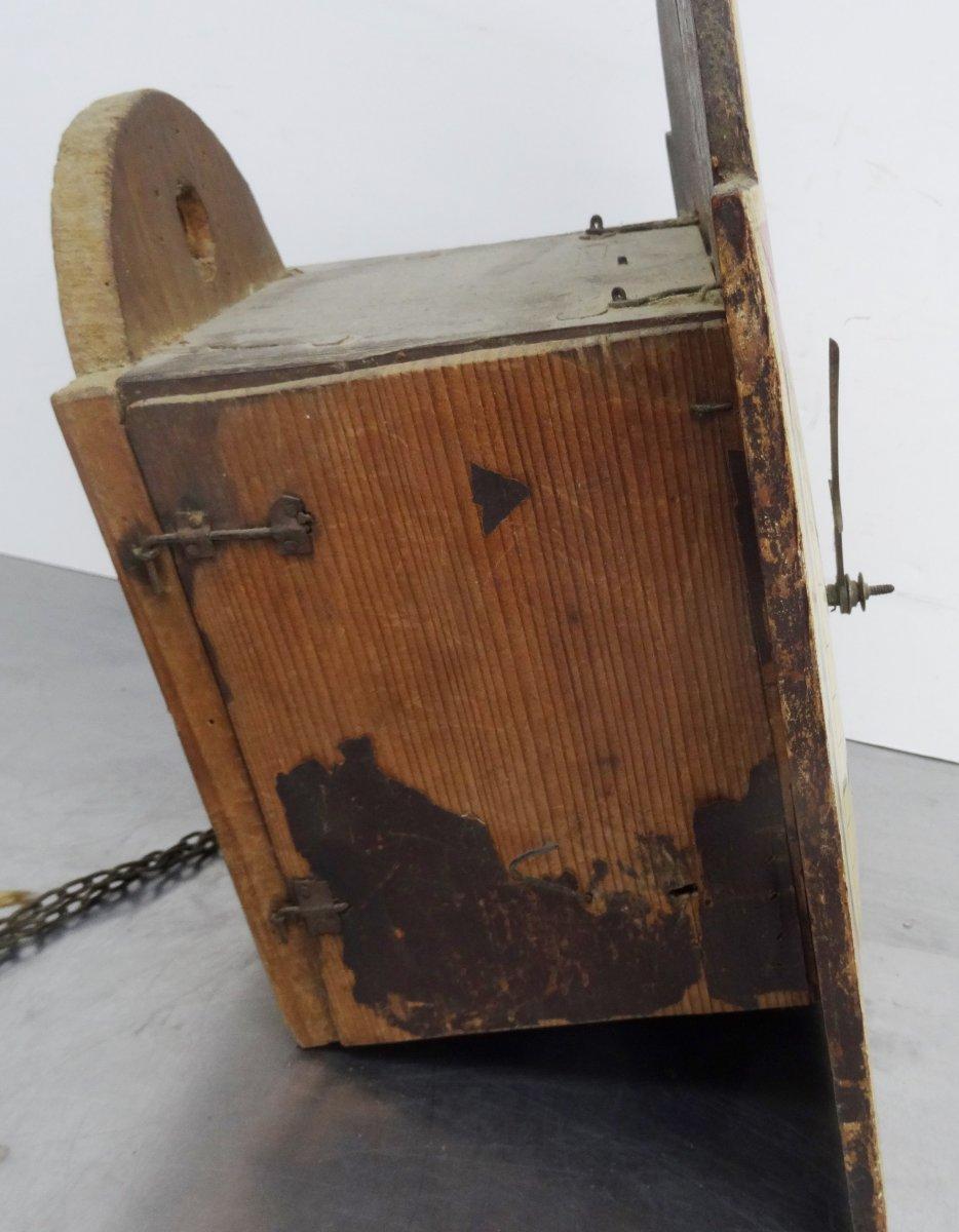 antike bemalte schwarzwald uhr schilderuhr holzplatinenuhrwerk wanduhr 1850 ebay. Black Bedroom Furniture Sets. Home Design Ideas