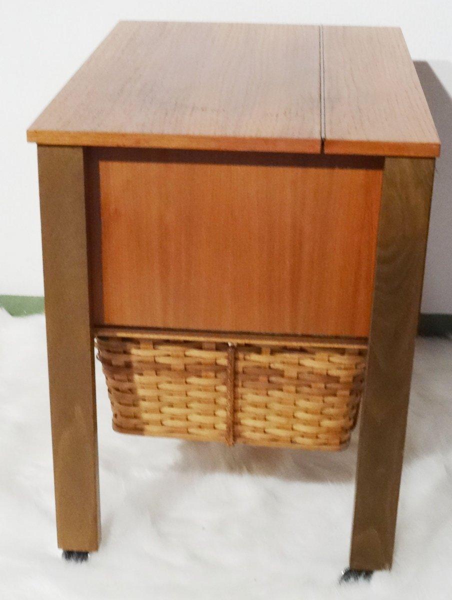 Vintage designer teak wood biedermeier n hschrank danish for Table design xxl