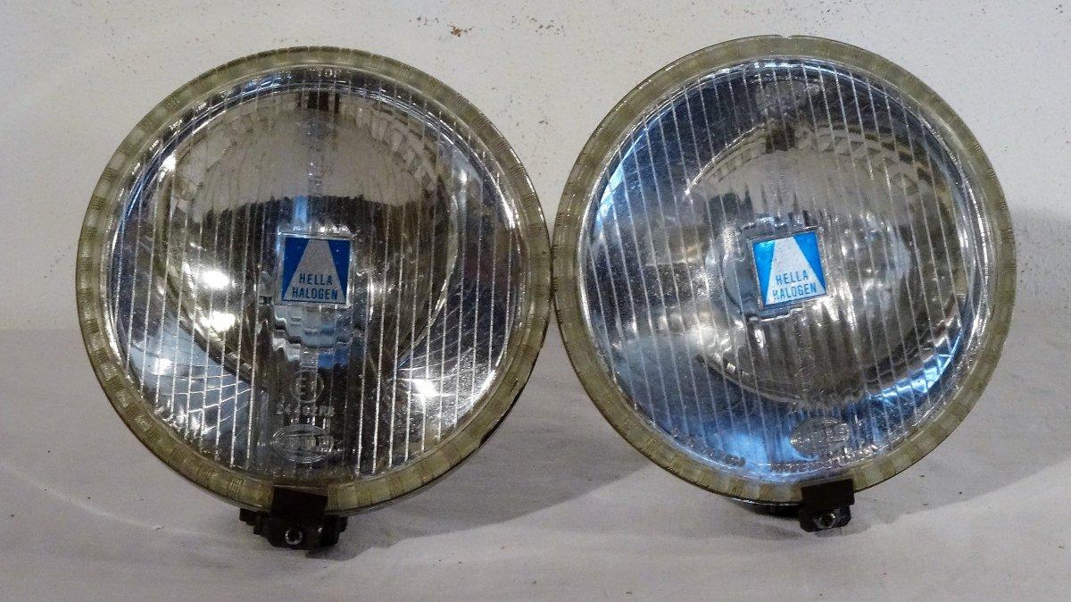 vintage pair car headlight hella halogen front headlight. Black Bedroom Furniture Sets. Home Design Ideas