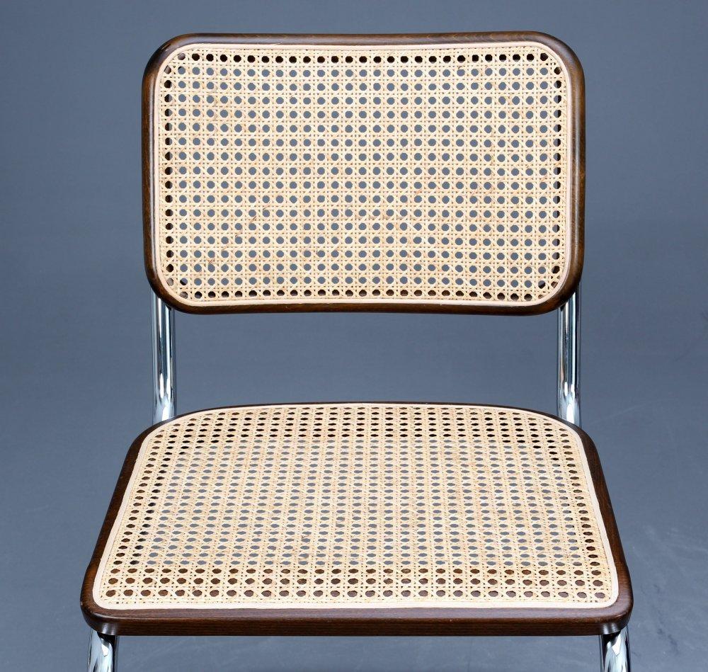 thonet s32 cantilever bauhaus classic chair brown breuer. Black Bedroom Furniture Sets. Home Design Ideas