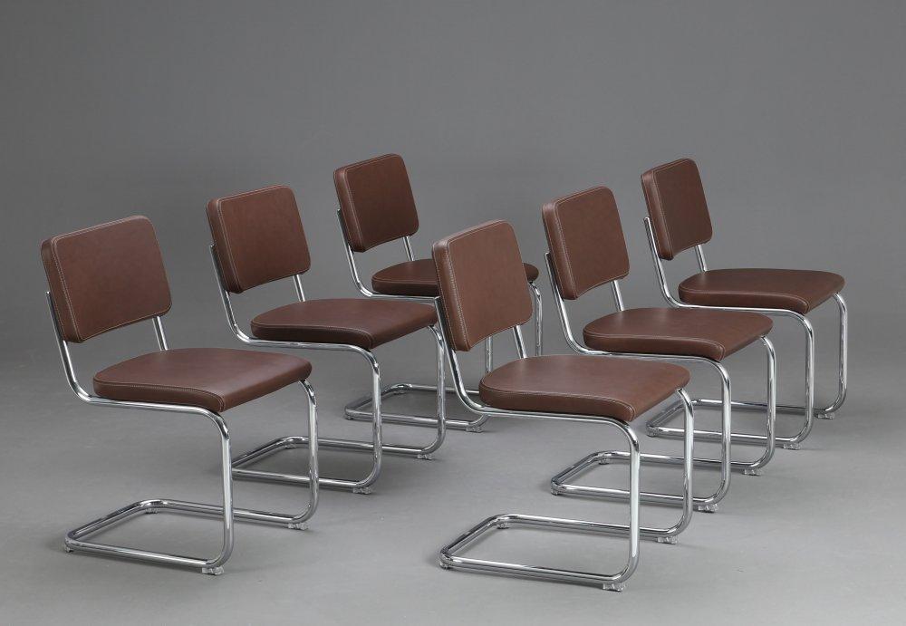 thonet s32 pv pure materials leder freischwinger braun. Black Bedroom Furniture Sets. Home Design Ideas